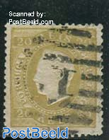 20R Olivegreen, norm.paper, perf. 12.5, used