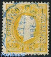 80R. Yellow, smooth paper, perf. 12.5, used