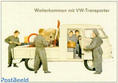 Volkswagen Transporter with workers