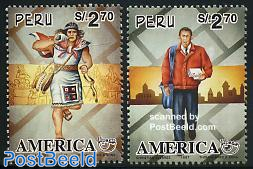 UPAEP 2v, postmen