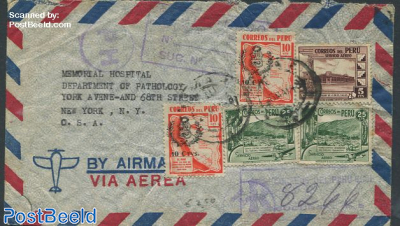 Airmail from Peru to New York