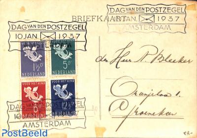 Stamp Day 1937, Amsterdam (brown spots)