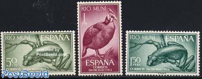 Stamp Day, animals 3v