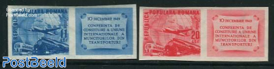 Transport union 2v+tabs imperforated