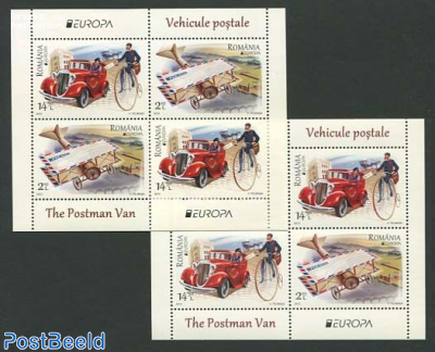 Europa, postal transport 2 s/s