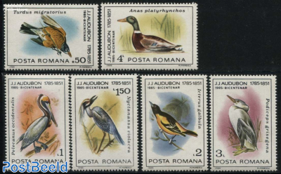 Europa Aland Romania 1999 National Park Danube Delta Water Birds Black Stork Duck Labels Mnh