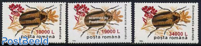 Insects overprints 3v
