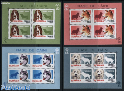 Dogs 4 minisheets