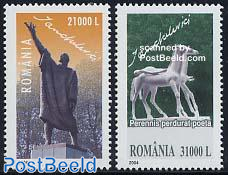 Sculptures 2v, joint issue Belgium
