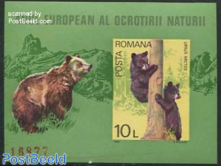 European nature conservation s/s (bears)