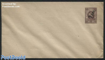 Envelope 3Kon on 5K, 145x81mm, straight lined flap