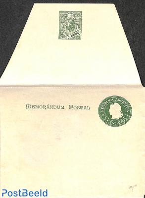 Letter sheet 5c Memorandum Postal