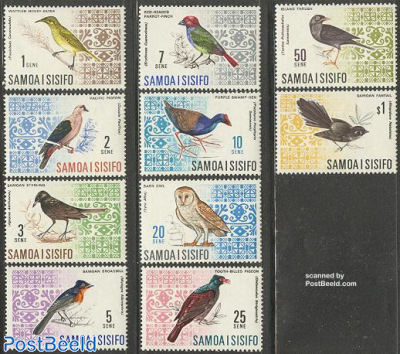 Definitives, birds 10v