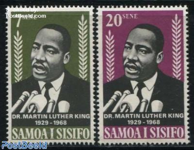 M.L. King 2v (Nobel prize for peace 1964)
