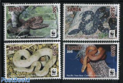 WWF, Pacific Tree Boa 4v (white borders)