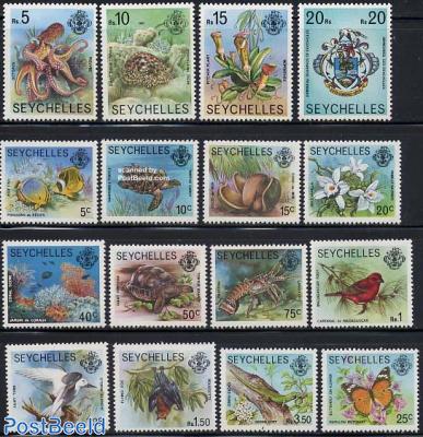 Flora & Fauna, definitives 16v