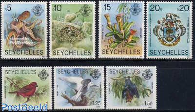 Definitives 7v with year 1980