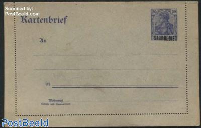 Card Letter (16.3mm overprint) 20pf