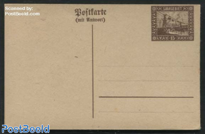 Reply Paid Postcard 15/15pf (right side connected)