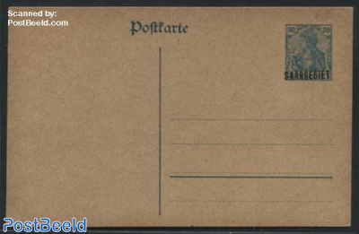 Postcard 30c, blue