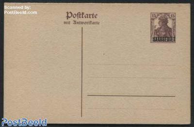 Reply Paid Postcard 15/15pf
