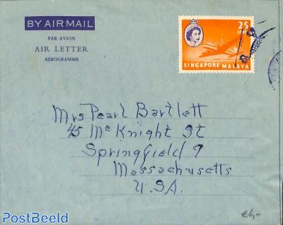 Aerogramme 25c to USA
