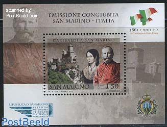 Garibaldi s/s, joint issue Italia