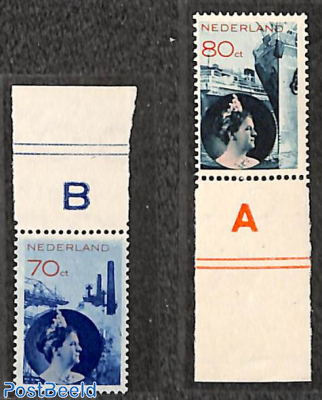 Photomontage 2v, MNH, with sheetborders, with attest Muis