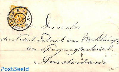 Folding letter with NVPH No. 34