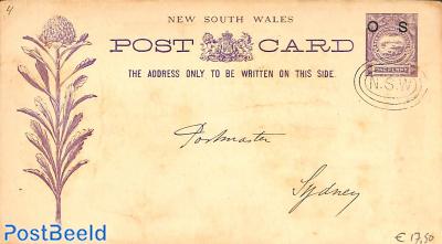Illustrated postcard On Service