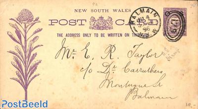 Illustrated postcard BALMAIN