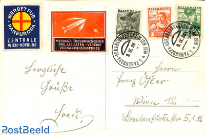 Card with seals and special postmark Pan European Agr. conf.