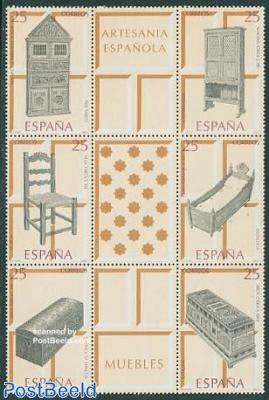 Furniture 6v+3 tabs in block of 9