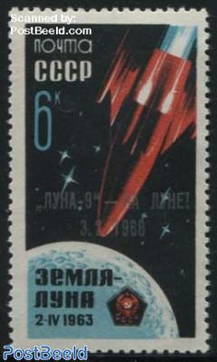 Luna 9 overprint 1v