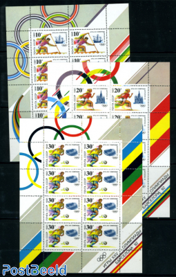 Olympic Games 3 minisheets