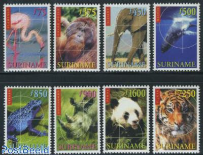Endangered animals 8v