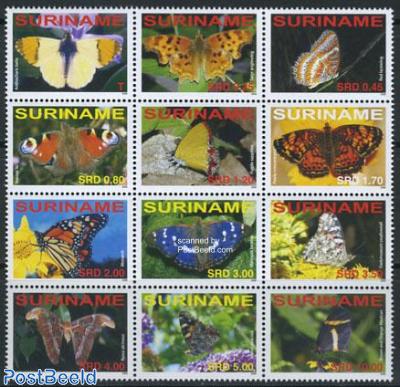 Butterflies 12v sheetlet