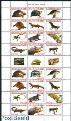 Reptiles 2x12v minisheet
