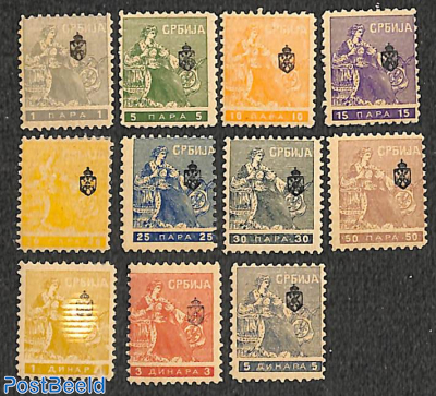 Newspaperstamps with coat of arms 11v