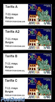 Automat stamps, Burgos 4v s-a