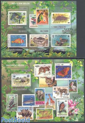 Stamp on Stamp, WWF 2 s/s