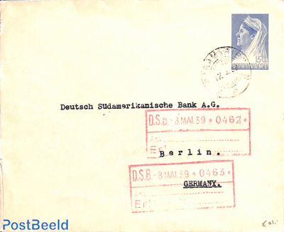 Envelope 15c, sent to Germany
