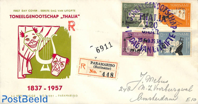 Thalia theater association, FDC with address