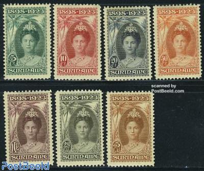 Wilhelmina silver jubilee 7v