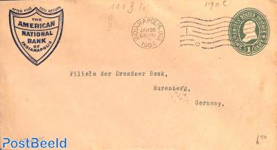 Envelope 1c, American Nat Bank of Indianapolis