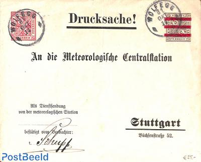 Envelope10pf on 3pf On service of Meteorologic station