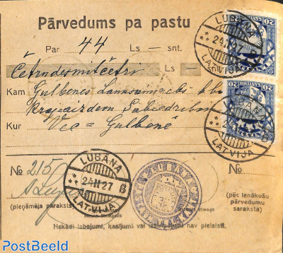 Remittance card