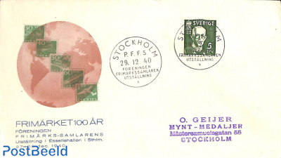 Special cover 100 years stamps