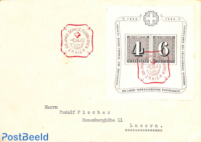 Block on cover to Luzern