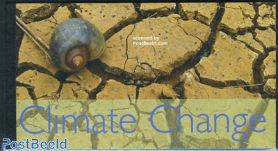Climate Change prestige booklet with 24 stamps